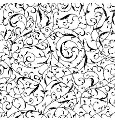 Vintage seamless pattern of weaving plants vector