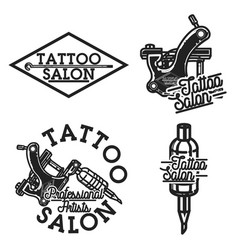 vintage tattoo salon emblems vector image