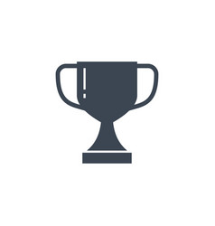 winner cup related glyph icon vector image