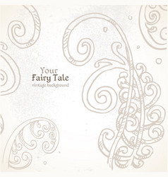 your fairy tale vintage background vector image