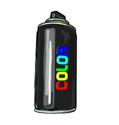 aerosol paint in a cylinder vector image