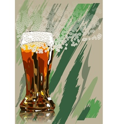 beer and foam vector image vector image