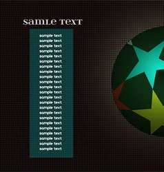 Champions league ball with information text board vector image vector image