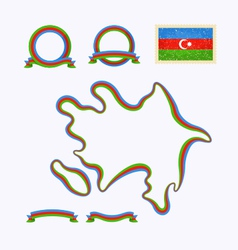 Colors of Azerbaijan vector image