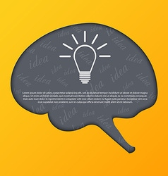 Human brain abstract background vector image
