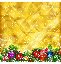 Stars golden background vector image