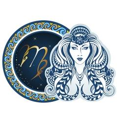 Zodiac signs - Virgo vector image vector image