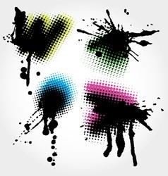 colorfull grunge splashes vector image