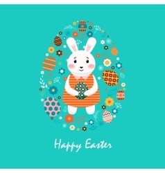 Happy easter 8 vector image
