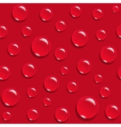Water drops on red background seamless pattern vector image