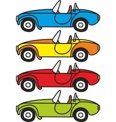 cartoon retro sport cars vector image