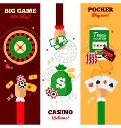 Casino Design Concept Banners vector image vector image