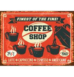 Coffee shop background vector image vector image
