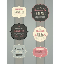 Collection of Hand Drawn Vintage Label Frame vector image vector image