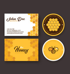 corporate identity for a company producing bee vector image