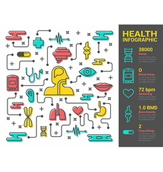 Health and medical line art vector image vector image