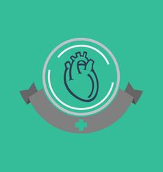 heart disease logo icon design vector image vector image