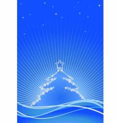 jewel Christmas tree vector image vector image