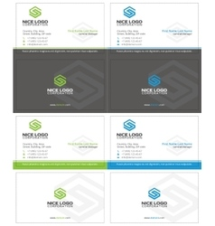 letter s business card 2 vector image vector image