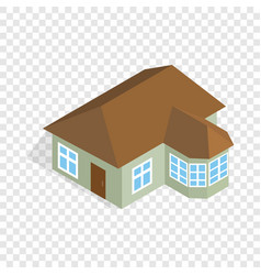 one storey house with veranda isometric icon vector image vector image
