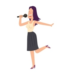 Singing people character vector image vector image