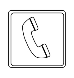 telephone sign isolated icon vector image