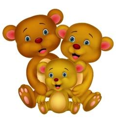 Bear family cartoon vector image vector image
