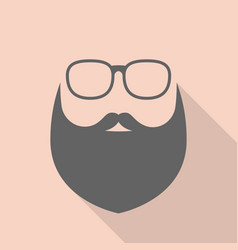beard and glasses vector image