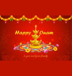 Happy Onam vector image vector image