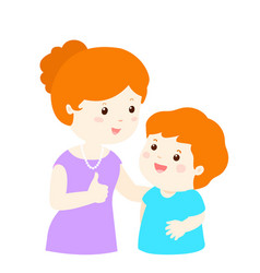 mother admire son character cartoon vector image vector image