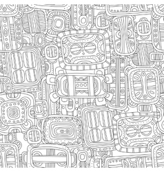 Seamless black and white decorative pattern for vector image