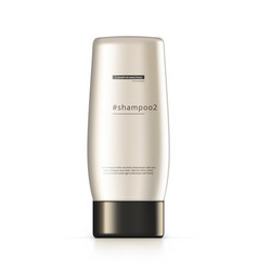 3d shiny shampoo bottle isolated on white vector