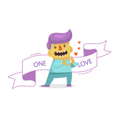 a businessman in love fall in love emoji facial vector image
