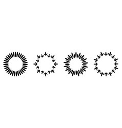 abstract line arrow star dotted round frame set vector image