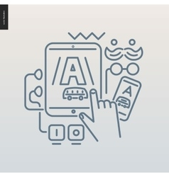App development outlined icon vector