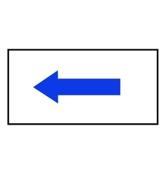 Arrow blue sign icon in white rectangle vector image