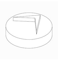 Arrow navigator icon isometric 3d style vector
