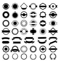 Badges creation kit for premium logos or vector