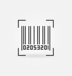 bar code icon vector image