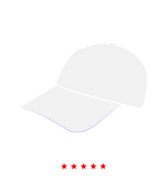baseball cap icon flat style vector image