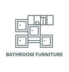 bathroom furniture line icon bathroom vector image