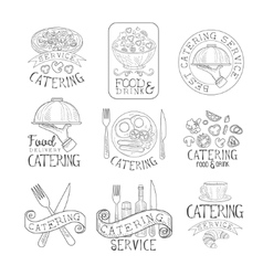 Best quality catering service set of hand drawn vector