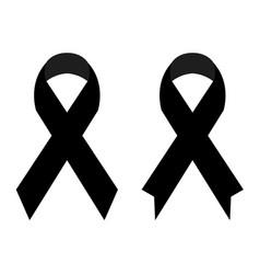 Black ribbon vector