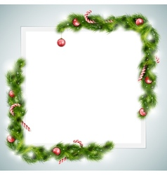 Blank Sheet of Paper With Christmas Attributes vector image