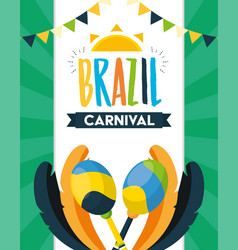 brazil carnival festival vector image