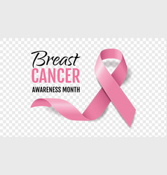 Breast cancer awareness with realistic pink vector