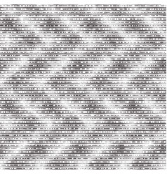 Brushed worn black and white grunge motif pattern vector