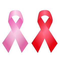 Cancer and aids awareness ribbon vector