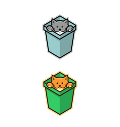 cat in box vector image