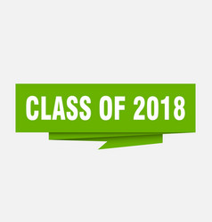 class of 2018 vector image